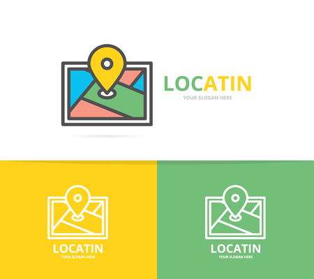 GPS semplice, posizione, mappa del percorso, modello di progettazione dell'icona del navigatore. Simbolo e segno illustrazione vettoriale