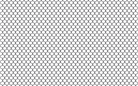 Illustration of chain link fence isolated on white background. Vector prison barrier, secured property graphic element