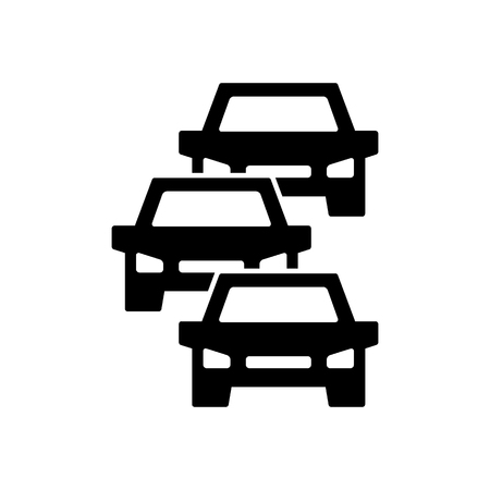 Verkeersopstopping pictogram, symbool en teken geïsoleerd op wit