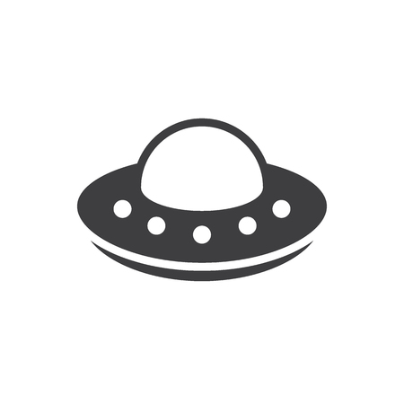 Simple UFO icon. Spaceship, alien symbol and sign vector illustration design. Isolated on white background Vecteurs