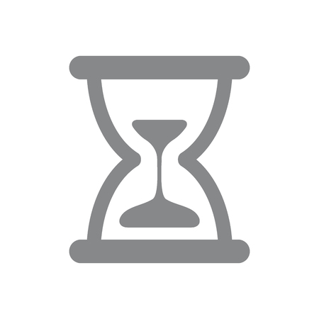 Vector hourglass icon. Sand clock symbol and sign illustration on white background 向量圖像