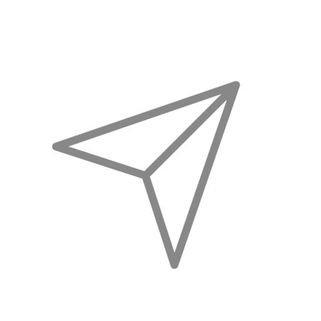 Navigation arrow line icon. Travel symbol and sign