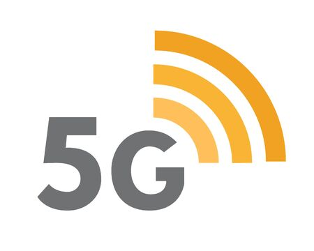 Fifth generation network icon. 5G wireless internet technology symbol or sign concept. 向量圖像