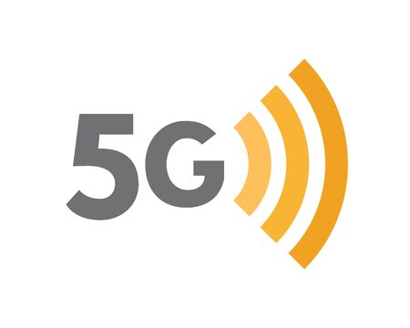 5G network technology symbol. Fifth generation wireless internet icon or sign concept.