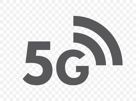 5G network technology icon. Fifth generation wireless internet symbol
