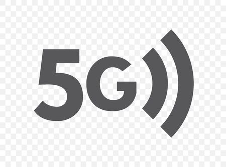 Fifth generation wireless network icon. 5G technology symbol. Connection, fast internet flat illustration concept
