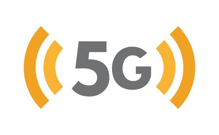 5G network technology icon. Fifth generation wireless symbol. Communication, connection, fast internet flat illustration concept 向量圖像