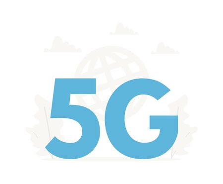 5G wireless network concept. Fifth generation internet technology, communication, fast connection