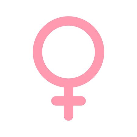 Female, woman symbol. Gender and sexual orientation icon or sign concept. 向量圖像