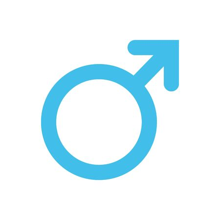 Male, man symbol. Gender and sexual orientation icon or sign concept. Isolated on a white background.