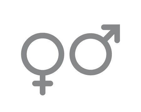Male and female icon. Gender and sexual orientation symbols. 向量圖像