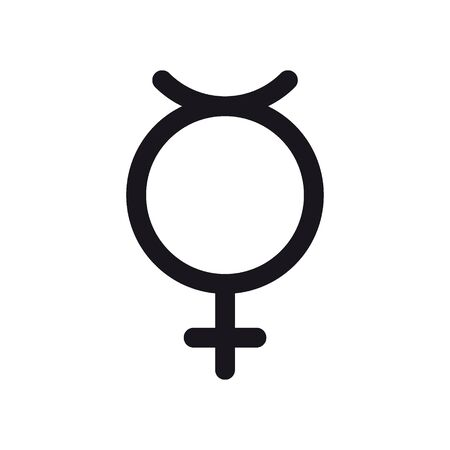 Non binary transgender symbol. Gender and sexual orientation icon or sign concept.