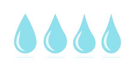 Blue water drops symbol set. Liquid drop icons 向量圖像