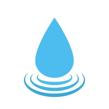 Vector water drop. Water droplet symbol