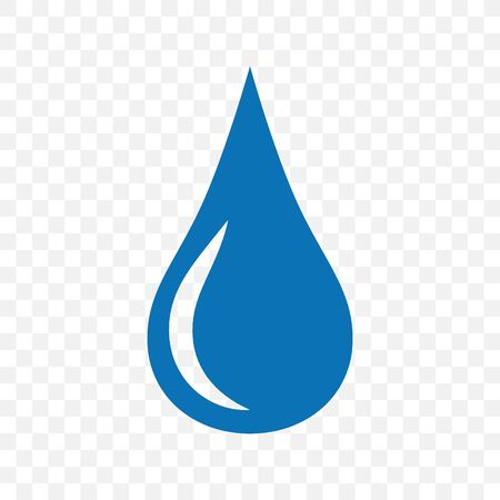 Water blue drop icon. Symbol and sign vector illustration design.