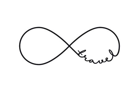 Travel - infinity symbol. Repetition and unlimited cyclicity sign