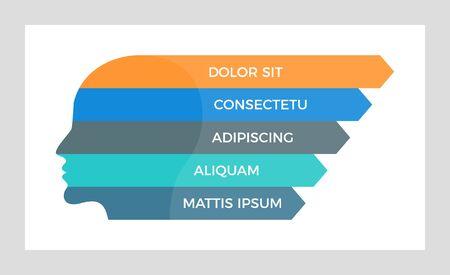 Set of orange and blue, black, turquoise elements for infographic presentation slides with charts, graphs, steps, timeline, arrows, number options.