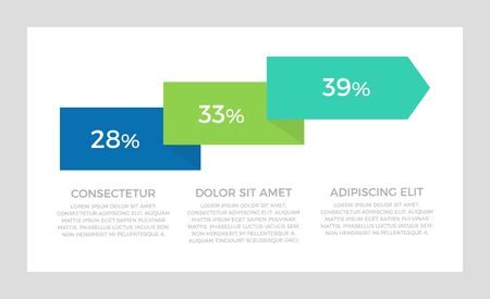 Set of green and blue, turquoise elements for infographic presentation slides with charts, timeline, arrows