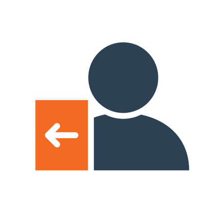 User profile with entrance sign line icon. Account login symbol