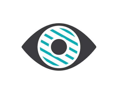 Human eye disease colored icon. Infected organ, inflammation of the iris symbol