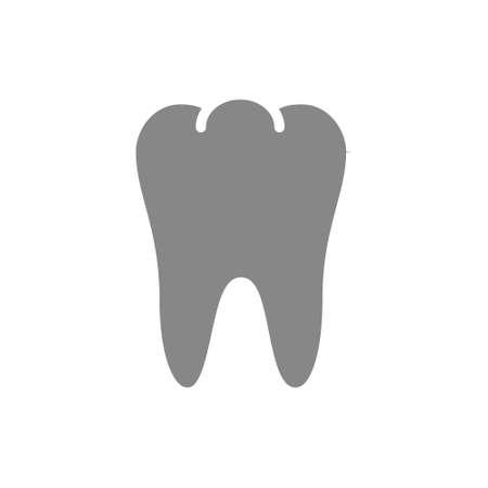 Human tooth gray icon. Healthy organ symbol Illusztráció