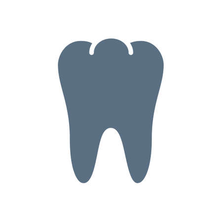 Human tooth colored icon. Healthy internal organ symbol