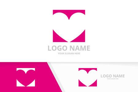 Creative heart logo combination. Healthcare logotype design template.