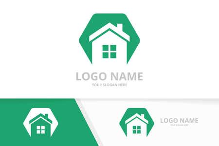Home logo combination. Creative real estate, house vector logotype