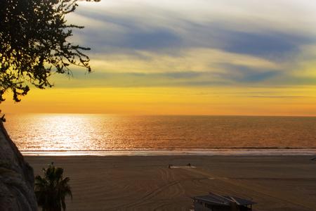 Santa Monica Sonnenuntergang, Los Angeles.