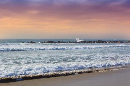 ocean waves: ocean waves on beach, the  Venice beach, California Stock Photo