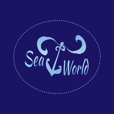 navigating: Hand drawn anchor.sea world  life design. Sea world  background.  Travel vintage background. Sea nautical design. Hand drawn textured sketch illustration