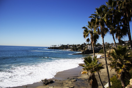Crescent Bay of Laguna Beach, Orange County, California USA. laguna beach coastal view, Los Angeles. Beautiful view of the coast Imagens