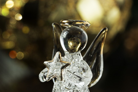 Crystal Angel. New Year Decoration. Christmas Ornaments, Christmas  Decoration Photo