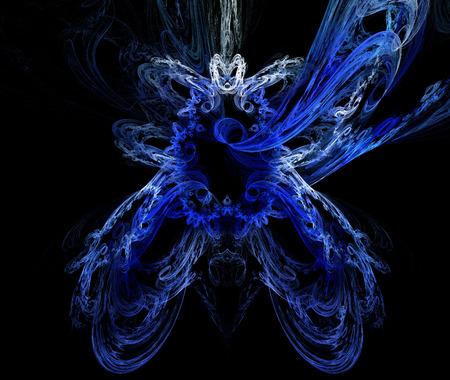 snow queen: snow queen (blue fractal background) Stock Photo