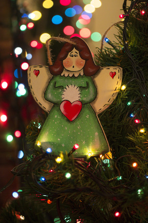 christmas tree toys angel christmas decoration handmade toy angel stock photo 66807645