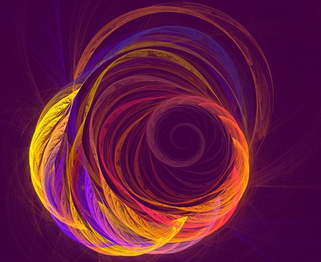 rotational: Abstract fractal element in rotational motion for your design. Abstract fractal design. Abstract futuristic wavy background