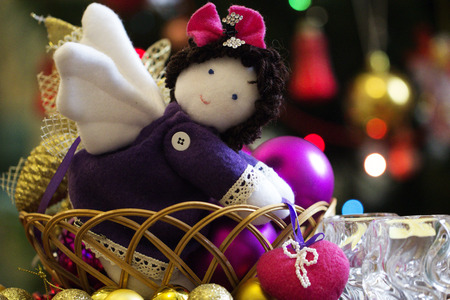 A natural cotton soft toy angel that brings a heart, peaceful handmade soft toy.Christmas decoration handmade toy Angel.