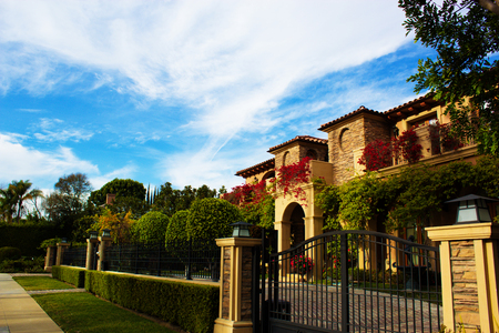 California Dream Houses 비벌리 힐스. 아름다운 주택과 부동산. 로스 앤젤레스, 캘리포니아. 스톡 콘텐츠