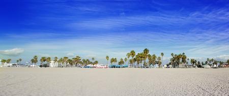 California Beach with palm trees