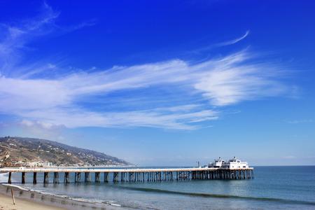 malibu: Malibu Lagoon State Beach in Malibu California. Malibu Pier California USA. Malibu Lagoon State Beach