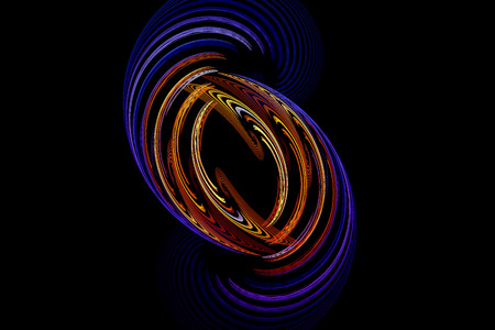 in unison: Computer generated fractal of double spiral.  spiral and spin in unison in this fractal abstract.Abstract fractal element in rotational motion for your design