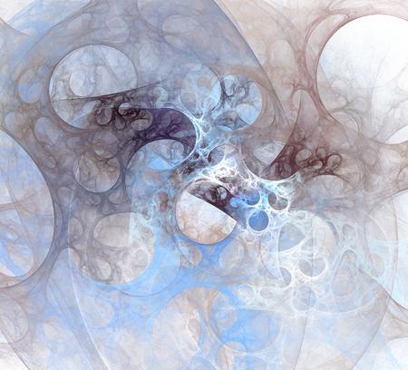Abstraktes Hintergrundelement auf Weiß. Dynamische Darstellung von Kurven und Rastern. Detaillierte fraktale Grafiken Standard-Bild