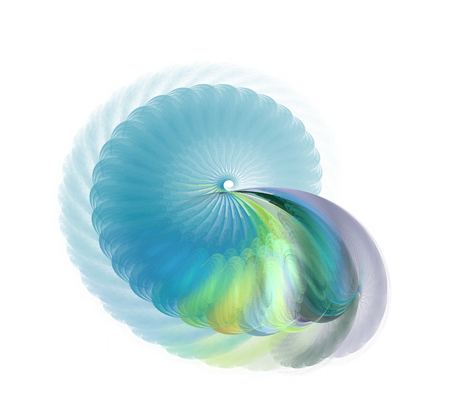 Abstract fractal element in rotational motion for your design. An abstract computer generated modern fractal design.