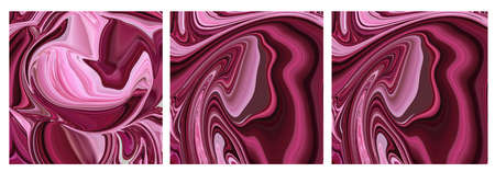 Abstract colorful fluid art background. Digital art. 免版税图像 - 166878843