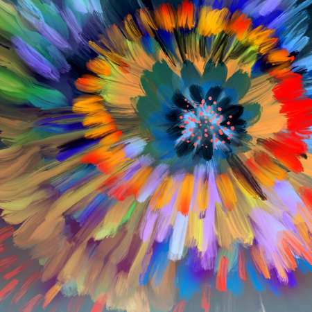 abstract flower like oil paints. Spring, easy and cheerful abstract background
