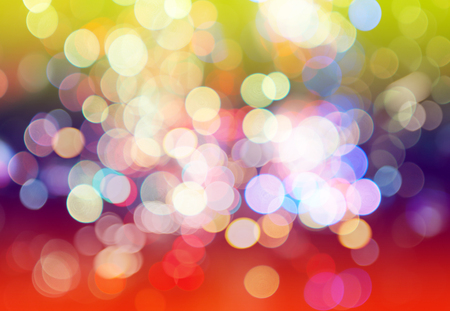 Blurred of colorful bokeh light abstract background