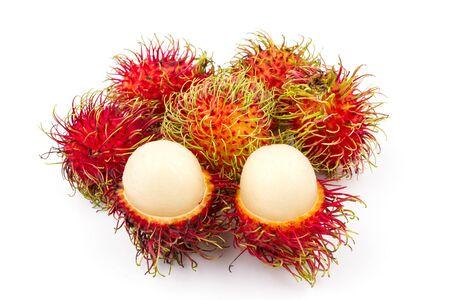 rambutan sweet delicious fruit on white background
