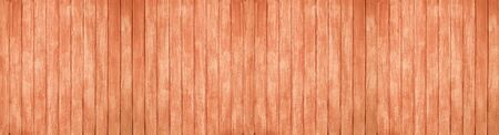 Panorama wood wall with beautiful vintage brown wooden texture background Standard-Bild