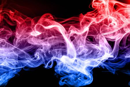 Beautiful colorful smoke abstract on black background, Moving of fire design