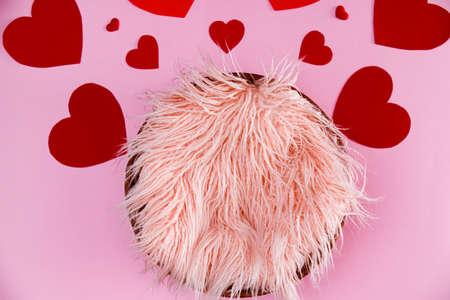 Pink newborn digital background for Valentines day
